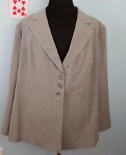 NWT Maggie Barnes Womens Plus Career Blazer Lined Gray 4X Polyester Blend LINED