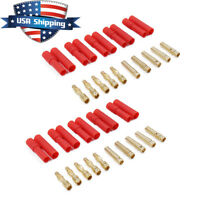 10 Sets Turnigy/HXT 4MM Bullet Connector Plug & Housing Sets for RC LiPO & ESC