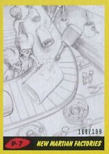Mars Attacks The Revenge Yellow [199] Pencil Art Base Card P-7 New Martian Fact