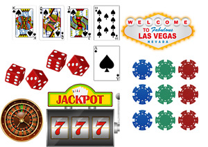 Las Vegas Cake topper Decoration Icing Wafer or Wafer card