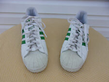 Adidas Classic Sneakers Size 14 White With Green Stripes