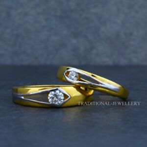 22K Gold Engagement, Wedding, Anniversary Gold Jewelry Man Women Couple Ring 7