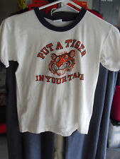 Vintage 1970s Esso Exxon Put a Tiger in Your Tank Child Tee Shirt 14-16 Champion