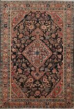 Antique Floral Hamedan Traditional Area Rug Hand-Made Vegetable Dye Carpet 5'x7'