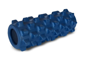New Original Compact RumbleRoller Foam Roller w/ Flexible Bumps Fitness in Blue