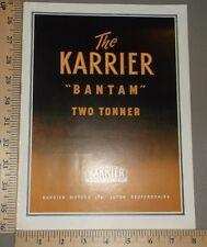 1955 Karrier Bantam Two Tonner Rootes Brochure Original