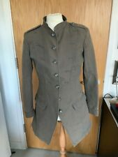 GUESS LADIES MILITARY JACKET SIZE XL KHAKI GREEN COTTON LONG SLEEVES