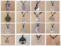 wholesale Hamsa Symbol multi-choice style Pendant Choker Necklace with Black Cor