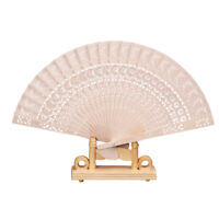 Bamboo Fan Folding Wooden Carved Hand Fans for Outdoor Wedding Party Favor UK