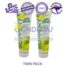 Twin Pack Wet Stuff Slippery 100g 2in1 Liquid Massage and Sex Lubricant Lube