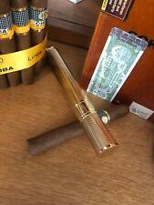 Davidoff Zigarrenhülle, Cigar Tube, goldfarben, wunderschöner Zustand