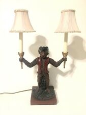 """Monkey in Colonial Attire and Tricorn Hat Two Light Lamp 22"""" Tall"""
