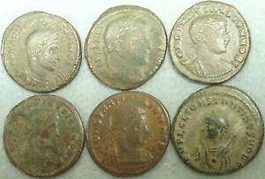 LOT OF 6 ROMAN BRONZE COINS