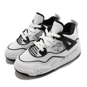 Nike Jordan 4 Retro SE TD DIY White Black Toddler Infant Basketball DC4102-100