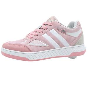 Breezy Rollers Kinder Rollschuh Schuhe mit Rollen - Rosa Weiß Grau