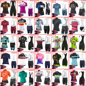 2021 Women Cycling Jersey Set Summer Short Sleeve Bicycle Outfits Bike Clothing