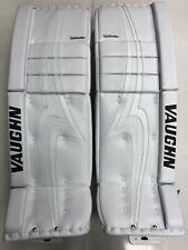"""New Vaughn Pro V Elite hockey goalie leg pads Int 31""""+2 intermediate all white"""