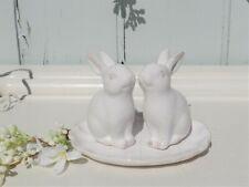 Clayre & Eef Salz & Pfefferstreuer Set Hase Kaninchen Keramik Landhaus Shabby