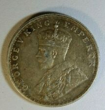 BRITISH INDIA -1920 - GEORGE V ONE RUPEE SILVER COIN NICE GRADE