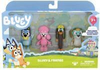 Bluey 4 PACK FIGURINE SET inc BLUEY + COCO + SNICKERS + HONEY figurines