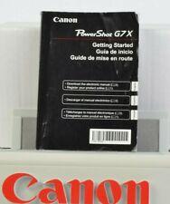 Canon Power Shot G7X Camera Instruction Manual English Spanish French GC (091)