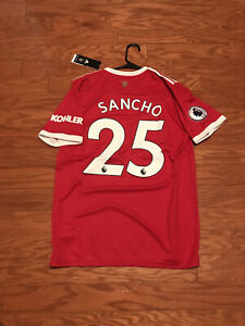 New 2021/2022 Jaden Sancho to Manchester United home jersey size large