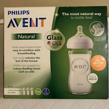 Philips Avent Natural Glass Baby Feeding Bottle 3 Pack BPA Free Premium