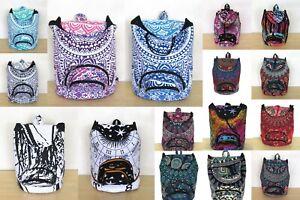Indian Unisex Fashion New Backpack Bag Cotton Hippie Bohemian Mandala Shoes Bags