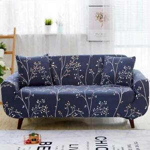 Blue Gray Floral Tree Branch Pattern Sofa Cover Cover Slipcover