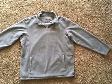 Men's CROFT & BARROW 1/4 Zip Pullover Fleece Jacket Sweatshirt Grey Size XL