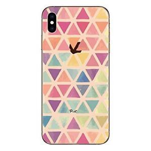 "iPhone XS MAX 6.5""  Coque gel souple résistante anti choc ( Triangles )"