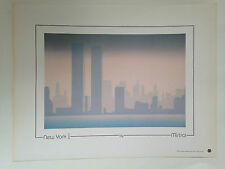 SERIGRAPHIE NEW YORK I - BY MISTRAL CANADA 1987 // TWIN TOWERS