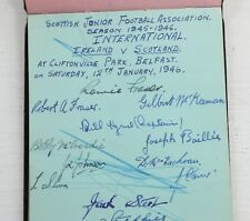 Autograph Booklet 1945-1946 Scottish Junior Football Association Autographs
