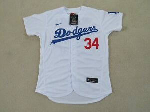 LA DODGERS Legend 'FERNANDOMANIA' #34 VALENZUELA Stitch White Jersey Men L NEW^