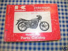 BB 99910 catalogo ricambi  KAWASAKI Z550-H GP  ediz. 1981