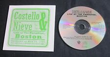 ELVIS COSTELLO & STEVE NIEVE 'LIVE AT THE PARADISE' 1996 PROMO CD