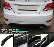 (Fits: Hyundai 2011+ Accent i25 Solaris Verna) S-9 Rear diffuser - Made in Korea