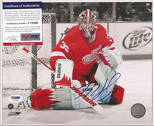 Jimmy Howard Signed 8x10 Photo PSA DNA COA Autographed Detroit Red Wings a
