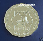 50c Australian Coin 2013 100 Year of Commonwealth Stamps 50 Cent UNC in card