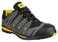 Amblers FS42C Safety Mens Black Composite Toe Cap Trainers Shoes UK3-13
