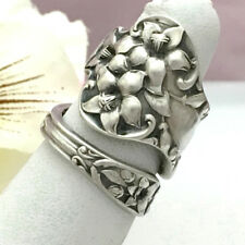 Sterling Magnolia Spoon Ring BRIDAL FLOWER Sz 5-11 Custom Silverware Jewelry