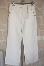 Jeans large écru neuf taille 42 marque Diplodocus avec lin étiqueté à 135€