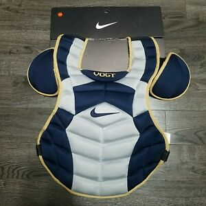"""NIKE ID Player Edition Pro Vogt Baseball Catchers Chest Protector 17"""" Blue Grey"""