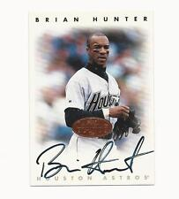 Brian Hunter 1996 Leaf Signature Series Autograph Bronze Card,Houston