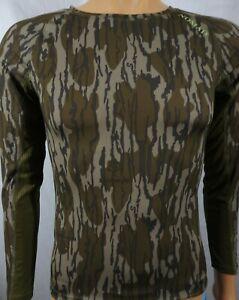 Nomad Mossy Oak Bottomland Camo Long Sleeve Hunting Poly/Spandex Jersey Shirt S