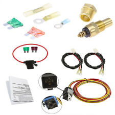 Dual Electric Cooling Fan Wiring Harness Install Kit 185/165 Hermostat 40A Relay