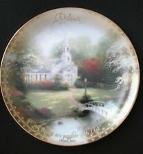 Thomas Kinkade Collector Plate - Hometown Chapel - 1St Issue 2000 Country Church