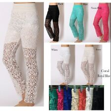 HOT! Fashion Sexy Long Lace Tiered Pants Under Safety Pants Shorts Pants