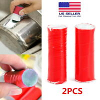 2pcs - Stainless Steel Rod Magic Stick Rust Remover Cleaning Wash Brush Wipe Pot