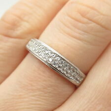 925 Sterling Silver Pave C Z Ring Size 7